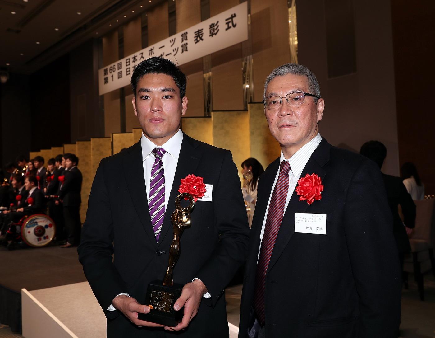 世界大学選手権日本代表チーム「第66回日本スポーツ賞」を受賞
