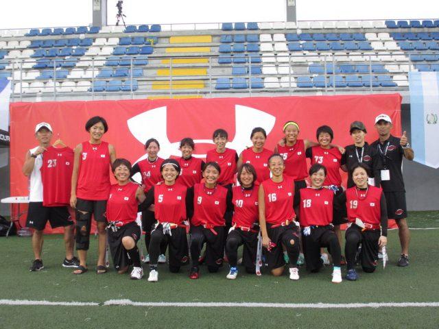 IFAFフラッグフットボール世界選手権2018大会が終了、女子は7位、男子は8位。